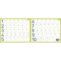 CBG Ardoise Blanche effaçable à sec format 21 x 26,5cm, avec les chiffres de 1 à 10