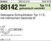Gebogene Schraubhaken M6x50D18