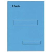 ESSELTE Boîte de 100 sous-dossiers 160g à 2 rabats bleu Scor , pour dossiers armoire et tiroir