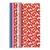 CLAIREFONTAINE Paquet de 10 rouleaux de papier cadeau alliance 2x0,7m assortis