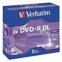 Verbatim DVD+R DL 8.5 gb 5 stuks