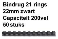 BINDRUG FELLOWES 22MM 21RINGS A4 ZWART