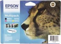Epson Tintenpatrone DURABrite Multipack T0715 (CMYK) (Gepard)