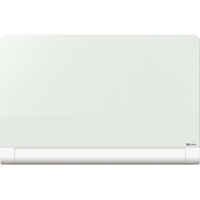 Nobo® Glasboard Diamond 126 x 71 cm (B x H) Tafel magnethaftend inkl. Marker, Magnete Sicherheitsglas brilliantweiß