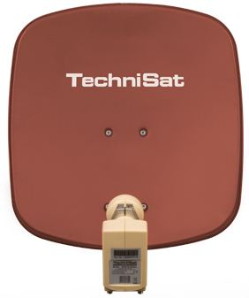 TechniSat TV Sat DigiDish 45 Twin, satellite dish, coulur Brick Red - 1445/2882