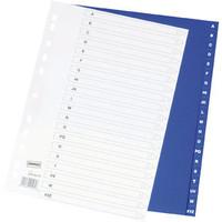Staples Kunststoff Register A-Z blau 20Bl.