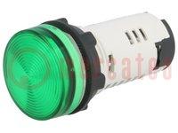 Kontrolllämpchen; 22mm; Bel: LED 24V AC/DC; flach; IP65; -25÷70°C