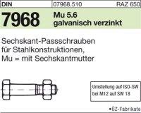 Sechskant-Paßschrauben M20x75