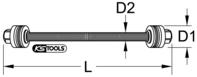 Trapez-Gewindespindel mit 2x Drucklager
