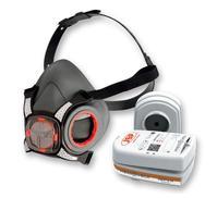 JSP Force8 Half Mask Twin Cartridge 4-point Harness A2P3 Ref BHT0B3-0L5-N00