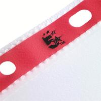 5 Star Office Punched Pockets with Reinforced Red Strip 75 Micron Side-opening A4 Clear [Pack 25]