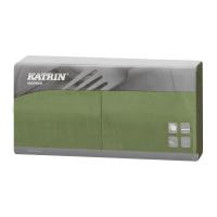 Serviette Katrin, Zelltuch, grün, 33 x 33 cm, 2-lagig, 1/4 Falzung
