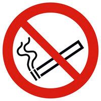Verbotsschild - Verbotszeichen Rauchen verboten Alu, Größe: 20,0 cm DIN EN ISO 7010 P002 ASR A1.3 P002