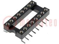 Ondersteunen: DIP; PIN:16; 7,62mm; Cont: koperlegering; SMT; 0÷85°C
