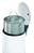 Tret-Abfallsammler, Hailo ProfiLine Solid Design L, tiefschwarz, 24 Liter, Inneneimer: verzinkt Bild 2