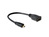 High-Speed-HDMI®-Kabel mit Ethernet, Micro Stecker (Typ D) an Buchse (Typ A), 0,23m, Delock® [65391]