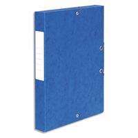 5 ETOILES Boîte de classement à élastique en carte lustrée 7/10, 600g. Dos 40mm. Coloris bleu.