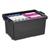 CEP Bac de rangement superposable avec poignée de 48,5 litres coloris Noir