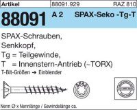 ABC SPAX S Screw 6 mm x 100/61 mm