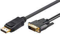 DisplayPort Kabel 1,0 Meter, 20 pol. Stecker > DVI 24+1 Stecker