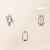 Klingeltaster mit LED-Anzeigen, weiß, System M