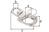 Schnappschäkel mit Wirbelauge,V4A, für Seil ⌀12 mm, Länge:70 mm, Breite: 33 mm
