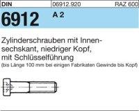 DIN6912 M6 x 25 mm Stahl A2