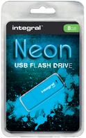 USB-STICK INTEGRAL 8GB NEON 2.0 BLAUW