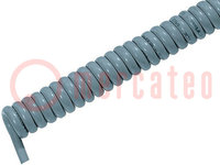 Przewód: spiralny; ÖLFLEX® SPIRAL 400 P; 3x1mm2; PUR; szary; 1m; 3m