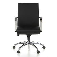 Bürostuhl / Chefsessel BAROLO 10 Leder schwarz hjh OFFICE