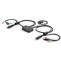 StarTech.com 2-poorts USB DisplayPort-kabel KVM-switch met audio en remote switch met USB-voeding