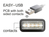 Anschlusskabel USB 2.0 EASY Stecker A an Stecker B, gewinkelt, schwarz, 1m, Delock® [83374]