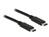 Kabel USB Type-C™ 2.0 Stecker an USB Type-C™ 2.0 Stecker 0,5 m schwarz, Delock® [83672]