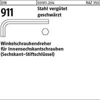1 Pack Winkelschraubendreher DIN 911 Stahl SW 8 vergütet (Inhalt: 10 Stück) von REYHER