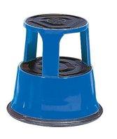 Rolltritt, aus Stahlblech, mit rutschfestem Gummibelag, blau, Artikelbild