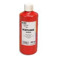 ART PLUS Acrylique brillante 500ml Rouge vif