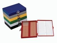 25slides Microscope slide boxes Colour Blue Dimensions (W x D x H) 141 x 88 x 35 mm