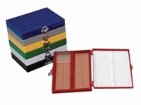25slides Microscope slide boxes Colour Red Dimensions (W x D x H) 141 x 88 x 35 mm