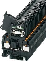 Sicherungsreihenklemme 0,2-6qmm,6,3A 30V,sw PT4-HESILED 24(5x20)