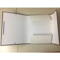 MERCKENS Heftbox mit Gummizug schwarz A4