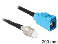 Antennenkabel, HF FME Buchse an FAKRA Z Buchse, 0,2 m, Delock® [88598]