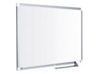 Bi-Office Maya nieuwe generatie whiteboard, magnetisch gelakt stalen oppervlak, grijs aluminium frame, 1800 x 1200 mm