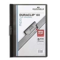 DURABLE Chemise de présentation Duraclip 60 à clip, couverture transparente - 1-60 feuilles A4 - Noir