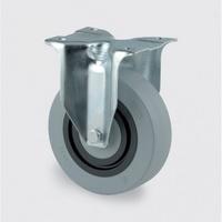 Přístrojové kolo se sníženou hlučností, pryžové, 100 mm