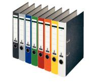 Ordner Standard, mit Farbrücken, mit Schlitzen, A4, schmal, sortiert