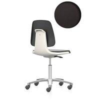 arbeitsdrehstuhl f nffu mit rollen sitz aus pu schaum wei bei mercateo g nstig kaufen. Black Bedroom Furniture Sets. Home Design Ideas