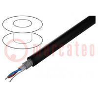 Wire: DMX; Core: stranded; 2x0,35mm2; 110Ω; -30÷70°C; Colour: black
