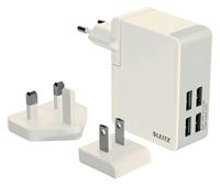 OPLADER WAND LEITZ COMPLETE USB 4PLUGS 24WATT WIT