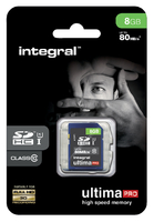 GEHEUGENKAART INTEGRAL SDHC 8GB ULTIMAPRO CL10