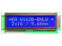 Display: LCD; alfanumeriek; STN Negative; 16x2; blauw; LED; PIN:16